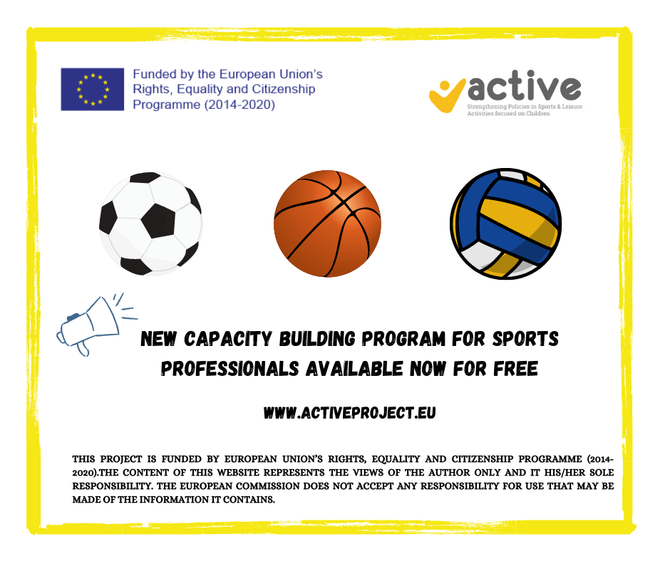 New free educational platform for sports professionals and organizations